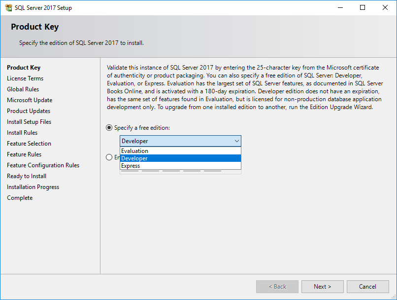 install sql server 2016 from iso file