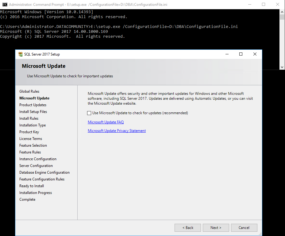 Unattended installation of SQL Server | SQLPlayer